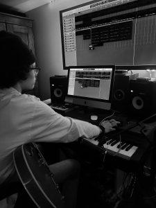 Jonah Little in his home studio