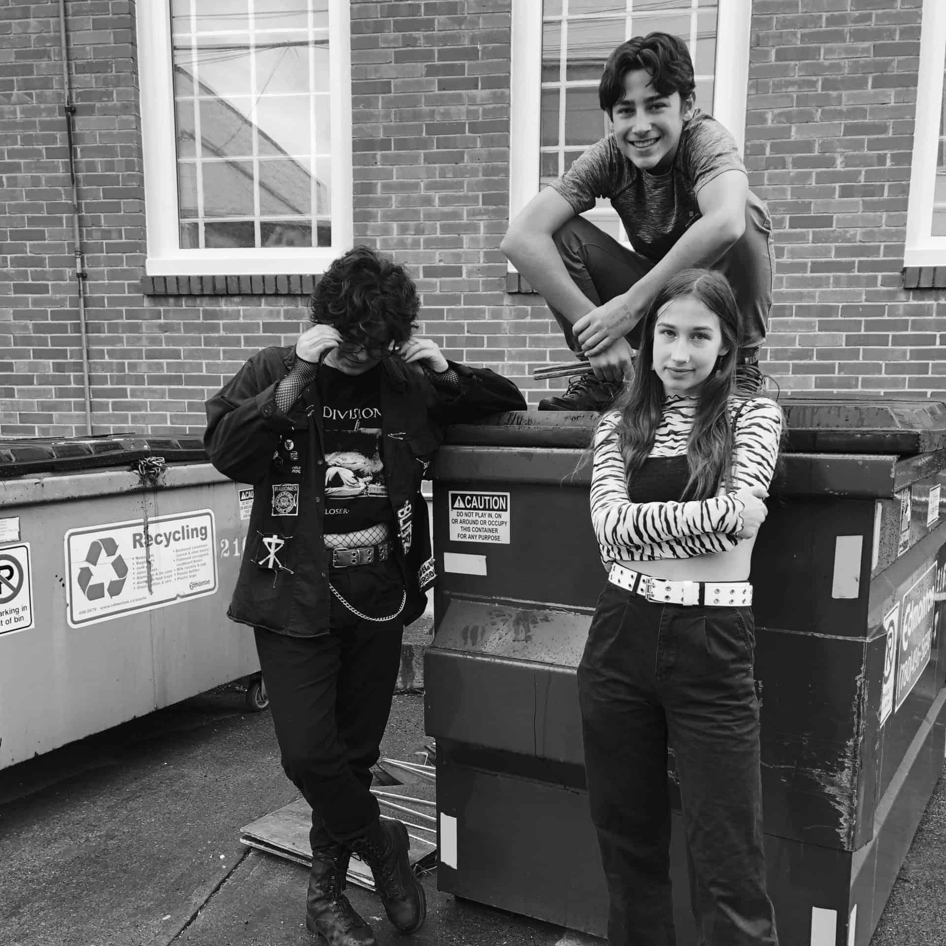 Rock Band Photo on Dumpster in Edmonton