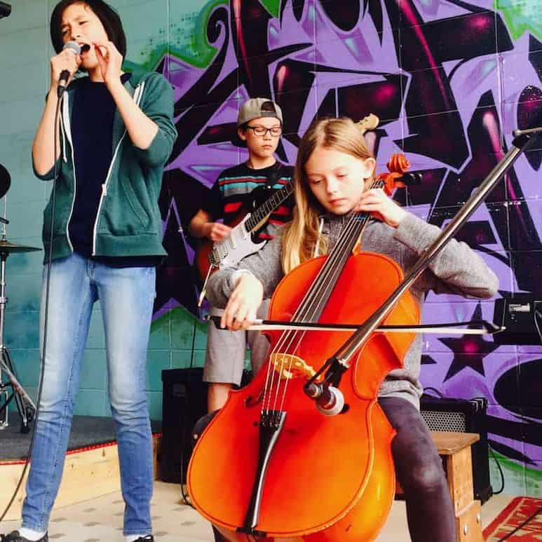 Youth Rock Band with Cello in Edmonton